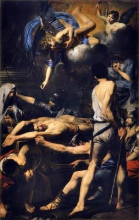 Valentin de Boulogne (French, Coulommiers-en-Brie 1591–1632 Rome). Martyrdom of Saints Processus and Martinian. Oil on canvas. Vatican Museums, Vatican City