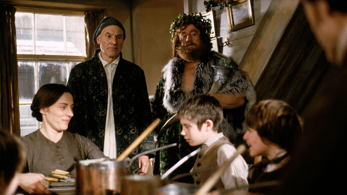 seven years after burying his business partner jacob marley ebenezer scrooge patrick stewart - A Christmas Carol With Patrick Stewart