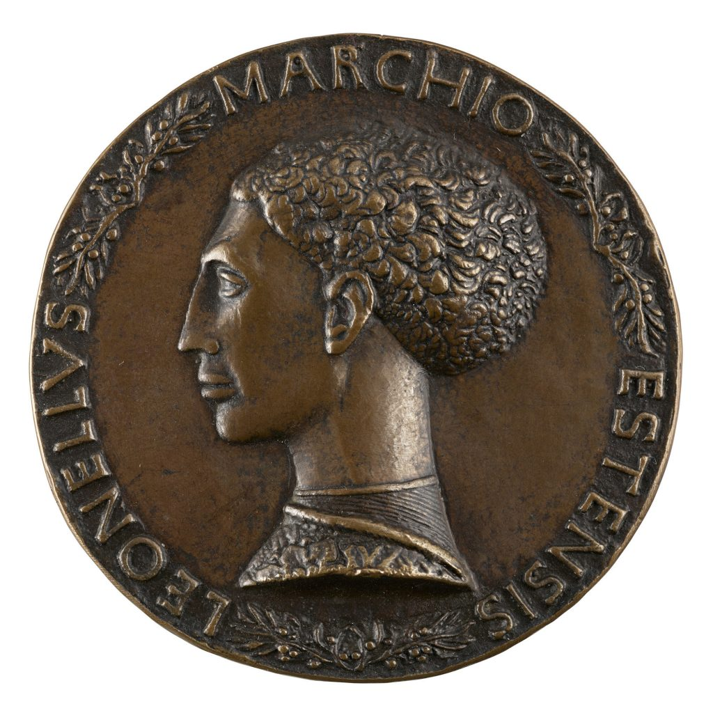Antonio di Puccio Pisano, called Pisanello (ca. 1395–ca. 1455) Leonello d'Este, Marquess of Ferrara (1407-1450), ca. 1445 Copper alloy, cast; 68.9 mm The Frick Collection; Gift of Stephen K. and Janie Woo Scher, 2016 Photo: Michael Bodycomb