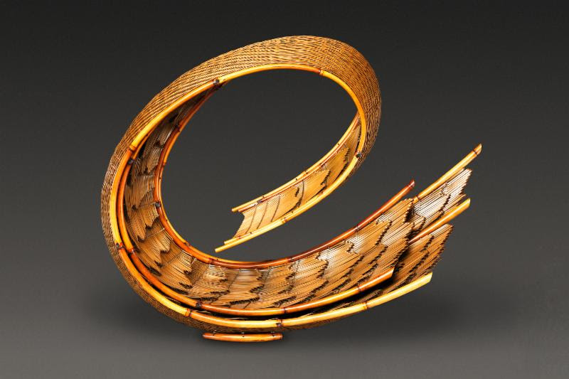 Honma Hideaki. Flowing Pattern, 2014. Japanese timber bamboo, dwarf bamboo, and rattan. Promised Gift of Diane and Arthur Abbey