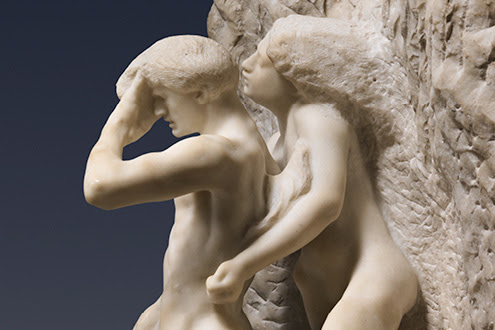 Auguste Rodin (French, Paris 1840–1917 Meudon), Orpheus and Eurydice, modeled probably before 1887, carved 1893, marble. The Metropolitan Museum of Art, Gift of Thomas F. Ryan, 1910