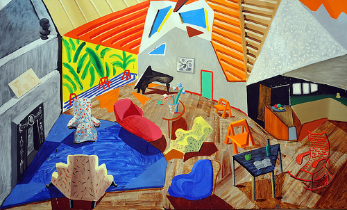 Large Interior - by David Hockney