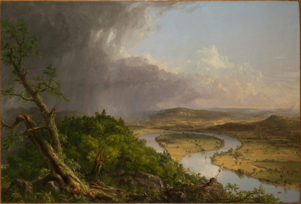 Thomas Cole (American, 1801–1848). View from Mount Holyoke, Northampton, Massachusetts, after a Thunderstorm—The Oxbow (detail), 1836. Oil on canvas. The Metropolitan Museum of Art, New York, Gift of Mrs. Russell Sage, 1908