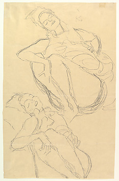 Two Studies for a Crouching Woman Artist:Gustav Klimt (Austrian, Baumgarten 1862–1918 Vienna) Date:1914–15 Medium:Graphite