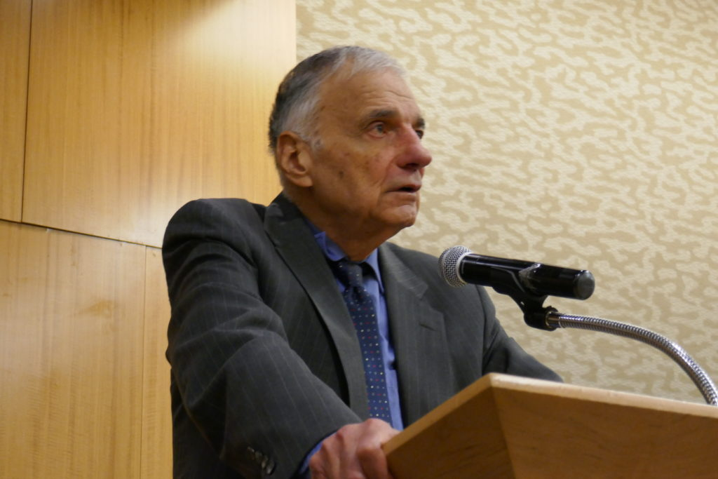 Ralph Nader gets a grip - a stronger grip on the failures of Bush, Obama and Hillary and the way to repair and make this nation great again than anyone in the world, and no one can match the power of his eloquence and truthtelling