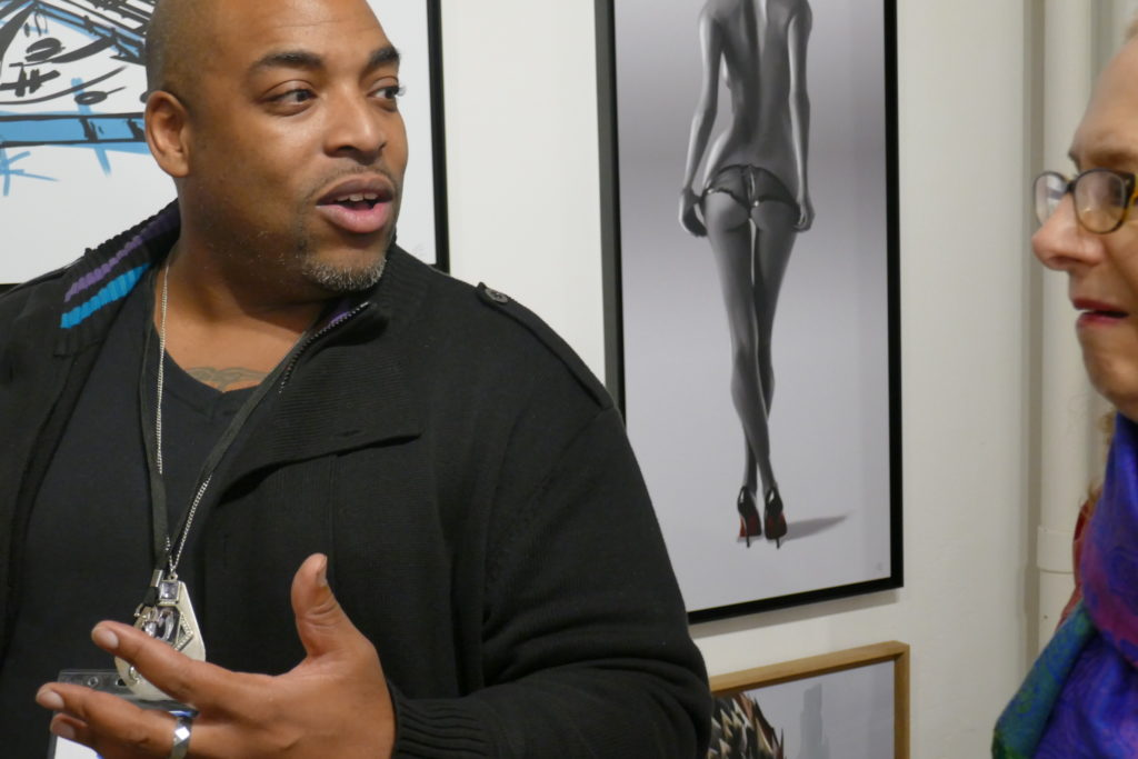 Bryant Small discusses his unusual approach to fashioning his work with an enquirer